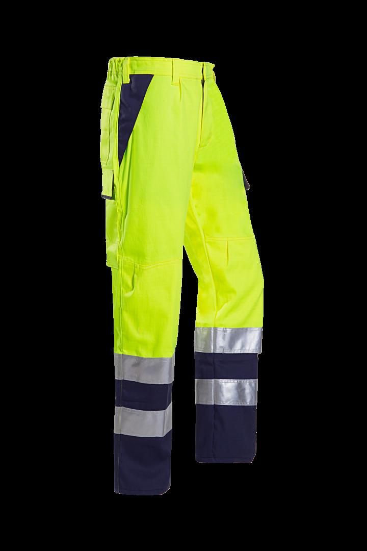 Sioen Broeken Ambok Multinorm- ARC fluo geel-marineblauw