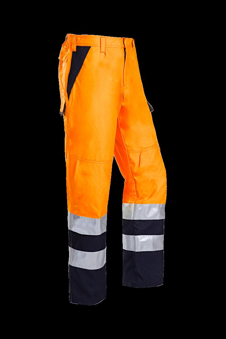 Sioen Broeken Bakki Multinorm- ARC fluo oranje-marineblauw
