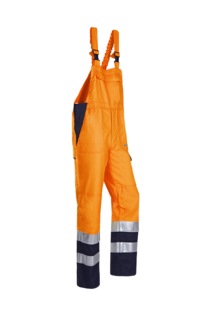 Sioen Amerikaanse overalls Viana Multinorm- ARC High Vis fluo oranje-marineblauw