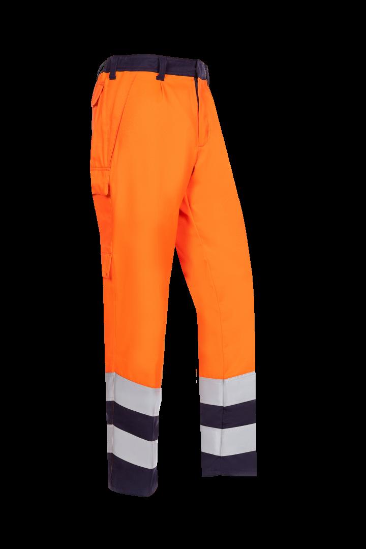 Sioen Werkbroeken Leste Multinorm- ARC fluo oranje-marineblauw