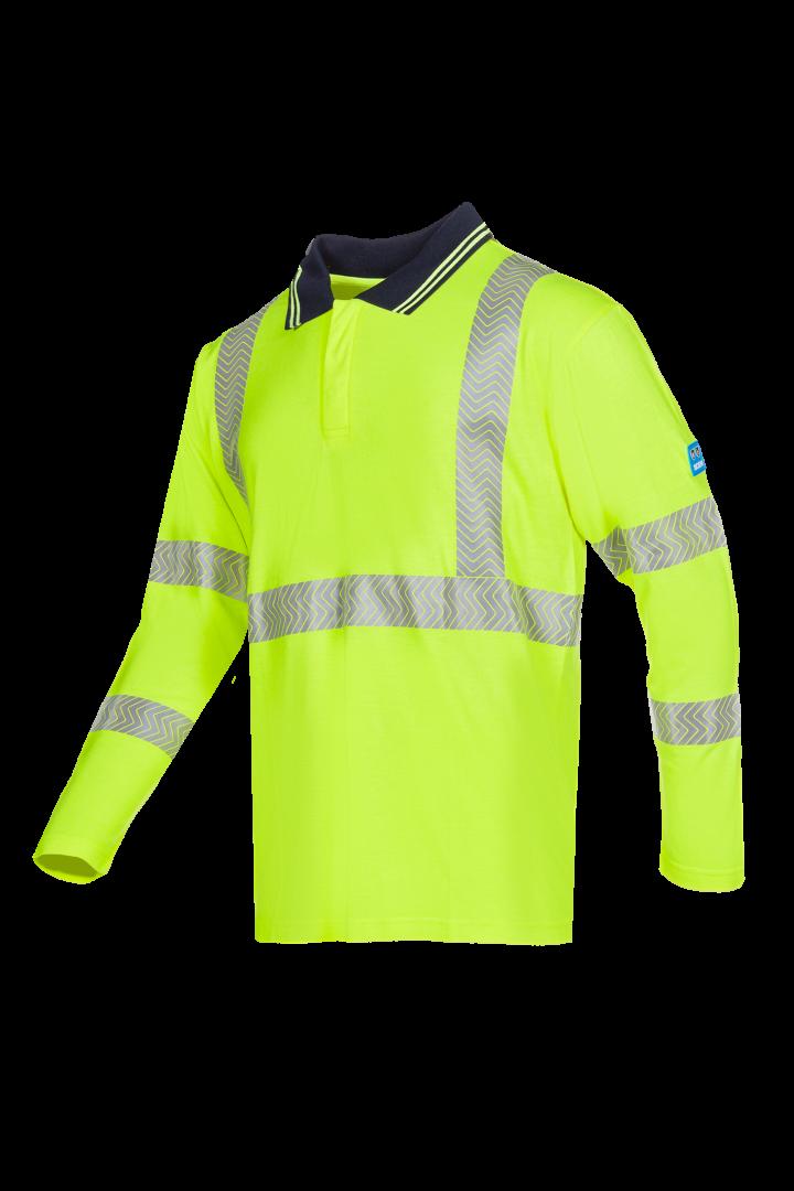 Sioen Poloshirts Garat Multinorm UPF 50+ UV fluo-geel