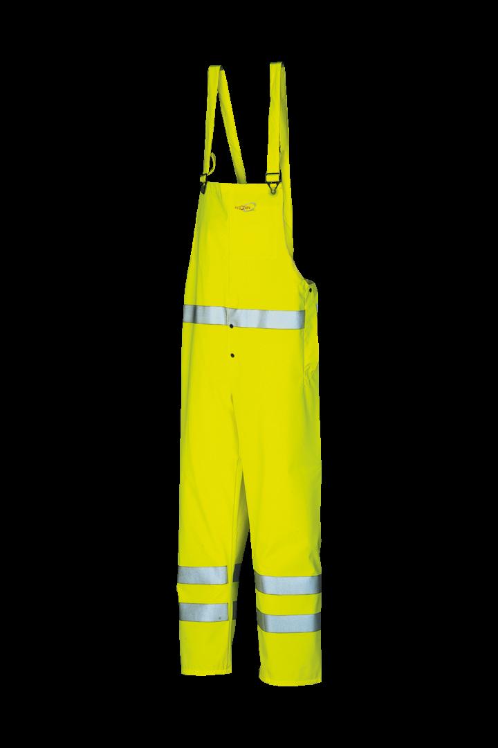 Sioen Amerikaanse regenoveralls Anonex  fluo-geel