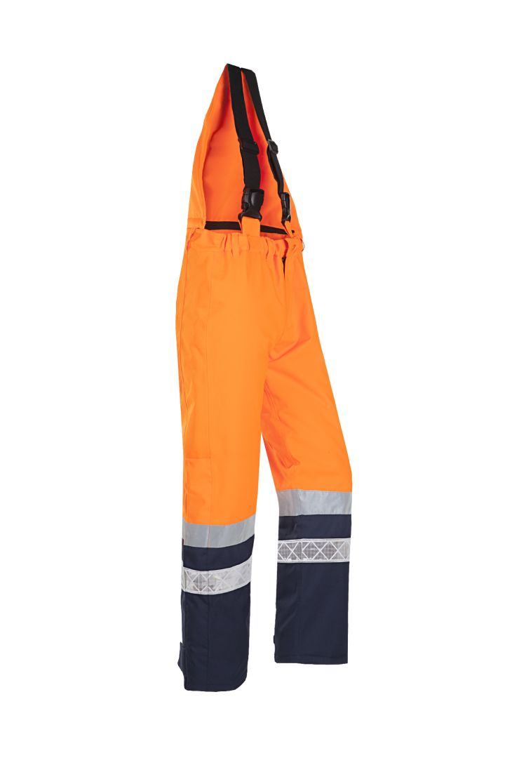 Sioen Amerikaanse overalls Glisy High Vis fluo geel-marine