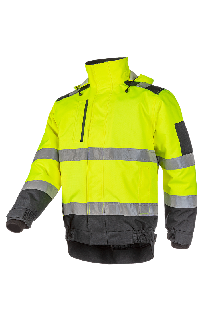 Sioen Jassen Croston High Vis fluo geel-marineblauw