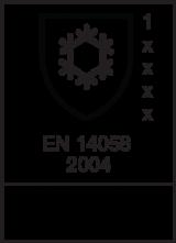 EN 14058 : 2004 / Class 1 x x x x