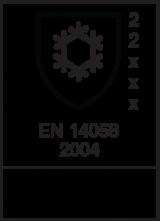 EN 14058 : 2004 / Class 2 2 x x x