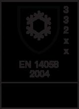 EN 14058 : 2004 / Class 3 3 2 x x