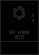 EN 14058 : 2017 / Class 1 1 x  x