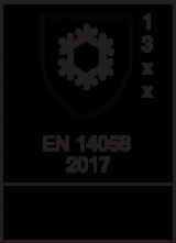 EN 14058 : 2017 / Class 1 3 x  x