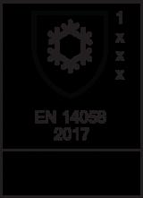 EN 14058 : 2017 / Class 1 x x x