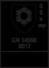 EN 14058 : 2017 / Class 3 3 X WP