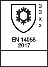 EN 14058 : 2017 / Class 3 3 x x