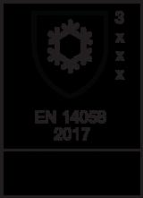 EN 14058 : 2017 / Class 3 x x x