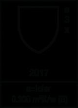 EN 342 : 2017 / Class 3 X / 0,300 m² K/W