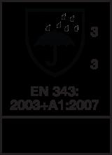 EN 343 : 2003 + A1 : 2007  Class 3-3