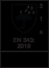 EN 343 : 2019 / Class 3-1-X