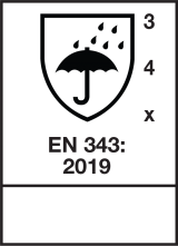 EN 343 : 2019 / Class 3-4-X