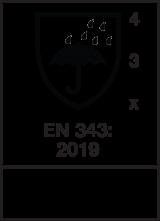 EN 343 : 2019 / Class 4-3-X