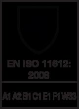 EN ISO 11612 : 2008 / A1 A2 B1 C1 E1 F1 W33