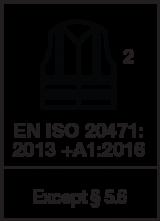 EN ISO 20471 : 2013 +A1 2016 / Class 2 except § 5.6