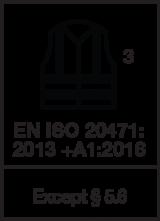 EN ISO 20471 : 2013 +A1 2016 / Class 3 except § 5.6