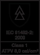 IEC 61482-2 : 2009 class 1 - ATPV 8.0 cal/cm²