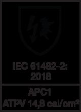 IEC 61482-2 : 2018 APC1 - ATPV 14,8 cal/cm²