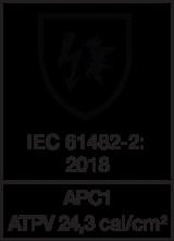 IEC 61482-2 : 2018 APC1 - ATPV 24,3 cal/cm²