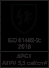 IEC 61482-2 : 2018 APC1 - ATPV 5,5 cal/cm²
