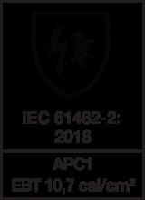 IEC 61482-2 : 2018 APC1 - EBT 10,7 cal/cm²