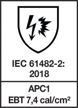 IEC 61482-2 : 2018 APC1 - EBT 7,4 cal/cm²