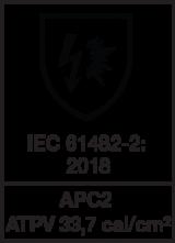 IEC 61482-2 : 2018 class 2 - ATPV 33.72 cal/cm²