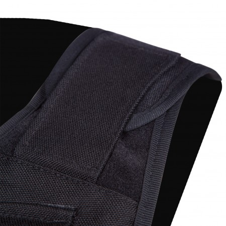 Adjustable shoulder closures with touch and close fastening