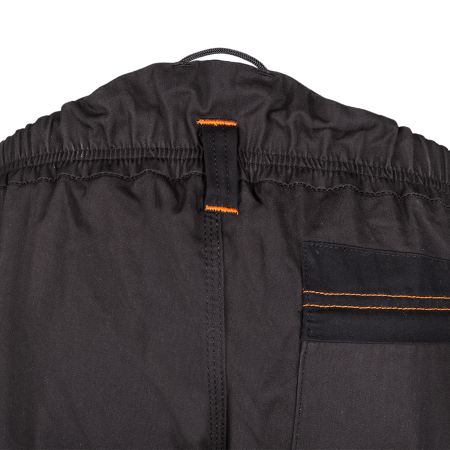 Elasticated waist with loops for belt and loops for velcro braces (ref. 5SD4)