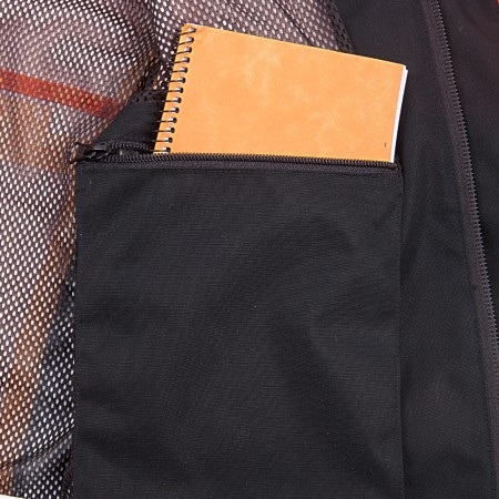 1 large inside pocket with zipper