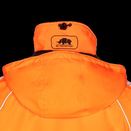 Foldaway hood in collar
