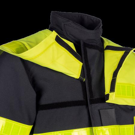 Jacket with detachable chest flap