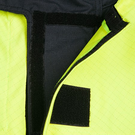 Jacket with detachable chest flap