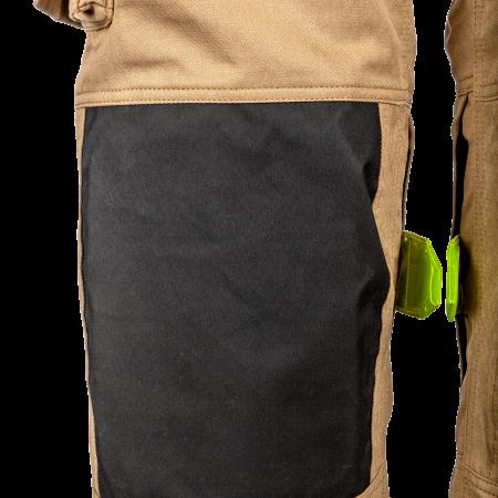 Knieën versterkt met mousse en gecoat en snijbestendige Kevlar<sup>®</sup>
