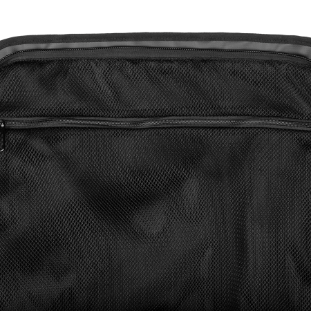 1 ventilated mesh fabric pocket with horizontal zipper in the flap