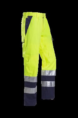 Sioen Werkbroeken Royan Multinorm- ARC fluo geel-marine