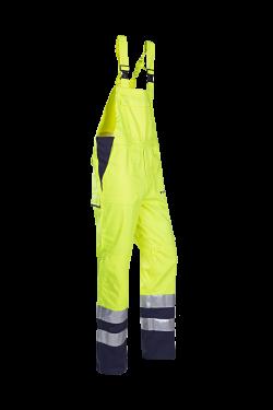 Sioen Amerikaanse overalls Bayonne Multinorm- ARC fluo geel-marine