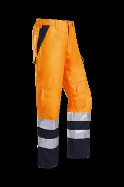 Sioen Broeken Arudy Multinorm- ARC fluo oranje-marineblauw