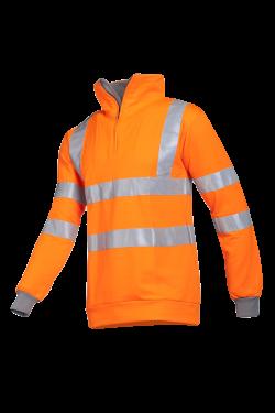 Sioen Sweatshirts Bindal High Vis fluo oranje-grijs