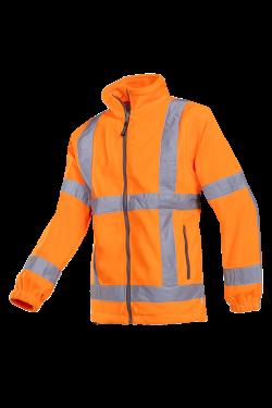 Sioen Fleece jassen Berkel  fluo-oranje