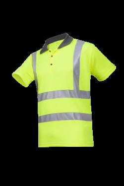 Sioen Poloshirts Genga fluo-geel