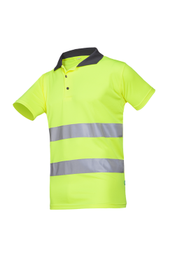 Sioen Poloshirts Irola fluo-geel