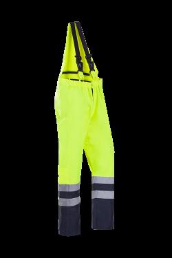 Sioen Am. Overalls Rogat High Vis fluo geel-marineblauw