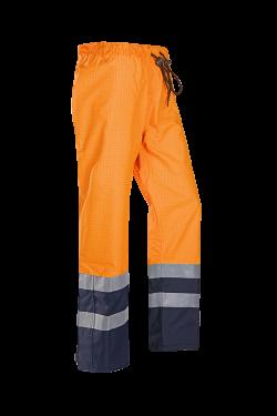 Sioen Broeken Gladstone fluo oranje-marineblauw