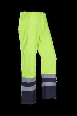 Sioen Broeken Tielson fluo geel-marineblauw